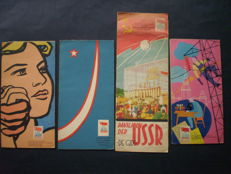 Expo 58; Lot with 4 folders from the Russian pavillion - 1958