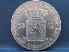 The Netherlands - 2½ guilders 1845a William II - silver