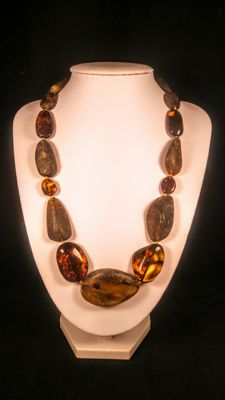 100% Genuine Baltic Amber necklace, length 53 cm, 50 grams