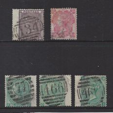 Great Britain 1865/1883, Queen Victoria - Stanley Gibbons 69, 76 and 101