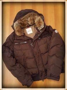 Moncler - Bomber jacket with hood and fur
