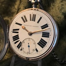 Fusee silver English pocket watch - 1890 - E. Wise