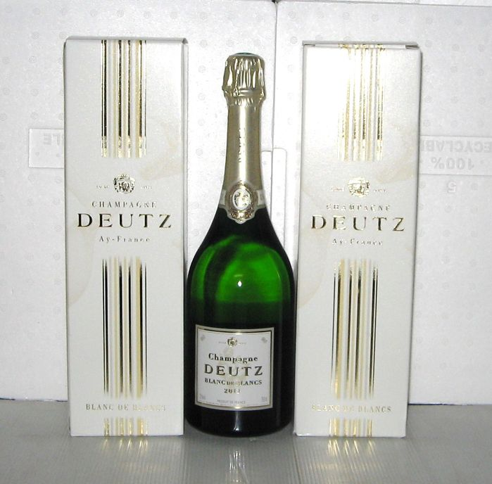 2011 champagne deutz blanc de blancs 3 bouteille 75cl in gift box catawiki. Black Bedroom Furniture Sets. Home Design Ideas