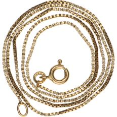 14 kt yellow gold curb link necklace - Length: 46 cm