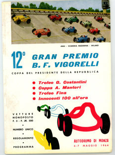 5 motor racing   Programmes Monza 1964 Crystal Palace  Brands Hatch 1950s and 1960s.