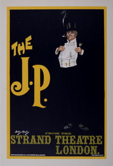 "Dudley Hardy - ""The J.P."" Strand Theatre - Original lithograph poster from the 'Les Maitres de L'affiche' series"