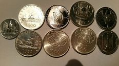 Italy - Lot of 10 silver coins + 251 various ones