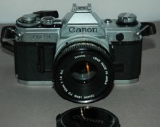 Canon AE 1 camera - FD 50 1.8 mm lens