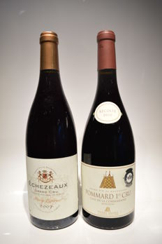 2010 Pommard 1er Cru - Clos de la Commaraine Pierre Andrée x 1 bottle (75cl) - 2007 Echezeaux Grand Cru Pierre Laforest  x 1 bottle (75cl)  / 2 bottles in total