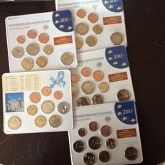 Germany - coin set 2009 A D F G J incl. 5 x 2 euro Saarland