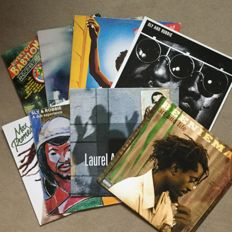 Lot of 8 fantastic reggae, dub and ska albums - Laurel Aitken, Beenieman, Jimmy Cliff, Toure Kunda, Sly and Robbie