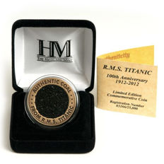 RMS TITANIC - Authentic & Original Coal from the RMS TITANIC ( Limited Edition Coin ) - With Certificate of Authenticity