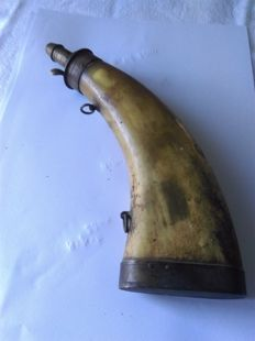old powder horn of the 'Poilus' military WW1