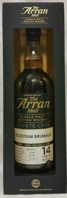 The Arran malt private cask bottling - Solstitium Brumalis - 14 years old - cask strength - limited release of 248 bottles (No.128/248)