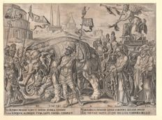 Maerten Van Heemskerck (1498-1574) -The triumphs of Petrarch / The triumph of Fame - by Philips Galle (1537-1612) - Ca. 1565
