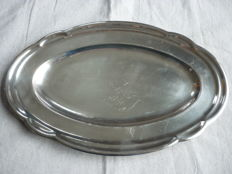 Wiskemann silver plated metal serving dish