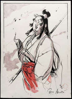 Michetz, Marc - Original Drawing - Guerrier Japonais - (2007)