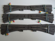 Märklin H0 - 24611/24612/74490 - 6 C-rails switches with drive