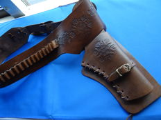 Western holster leather