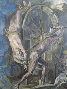 Abraham van Diepenbeeck (1596-1675) - Ixion's Wheel - Mythology - Torture  - 1655