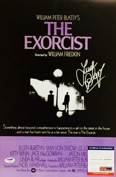 Linda Blair - Authentic Signed Autograph in Amazing Big Poster The Exorcist ( 28x35cm ) - With Certificate of Authenticity PSA/DNA