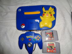N64 Pokemon Edition with 2 pokemon games