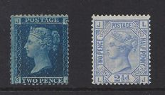 Great Britain 1858/1879 - Queen Victoria - Stanley Gibbons 45 and 157