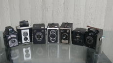 Collection with 7 box cameras