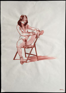 Jung- Original Drawing - Erotic Watercolour - (1997)
