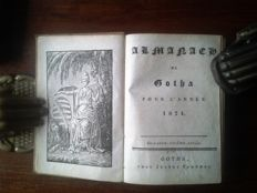 Almanach de Gotha; Lot with early volumes - 1824 / 1830 / 1832