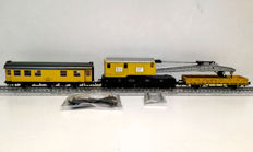 Roco H0 - Uit set 51231 - Crane wagon set with accompanying wagons of the DBG