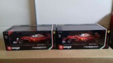 Bburago - Scale 1/18 - Lot with 2 Ferrari F1 SF16-H - Raikkonen & Vettel