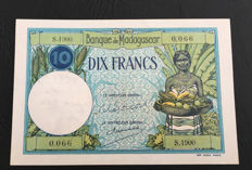 Madagascar - 10 Francs ND (1937-1947) - Pick 36