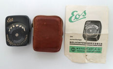 Very rare working Eos meter from 1938 in leather case with original manual