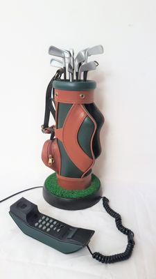Decorative leather golf bag telephone
