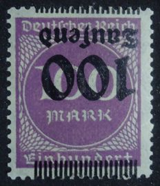 Important stamps of the inflation era. German empire.