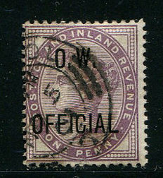 Groot-Brittannië 1896/02 - Queen Victoria dienstzegel One penny lilac OW OfficialL - Stanley Gibbons O33