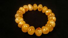 100% Genuine egg yolk colour Baltic Amber bracelet, weight 25 gram