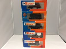 Roco H0 - 4310B, 46220,46481, 48039 - 5 various goods wagons  (2304)