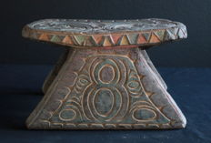 Very old cult house bench from a men's house in Sepik, PNG