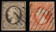 Luxembourg - Willem III first emission - Michel 1 and 2