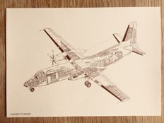 Old Fokker fighter aircraft - 24 unique openwork drawings (for framing!)