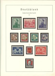 GDR – 1949 – 1975 – collection with German Chinese Friendship and Marx blocks in Lighthouse album