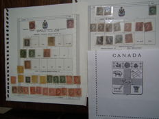 Canada – Collection of stamps from Yvert 12 of 1850 to 33b of 1870