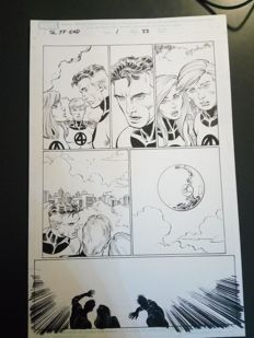 Original Art Page By John Romita Jr - Marvel Comics - Fantastic Four Last Story - Page 33 - (2007)