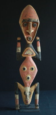 YANGORU Statue of a Worshipper from PNG
