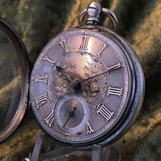 Fusee, silver, English pocket watch - 1874 - J. Auerbach