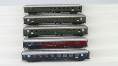 Märklin H0 - 43930/42930/From set 29855 - 5 express train passenger/dining carriages 1st/2nd class of the DB