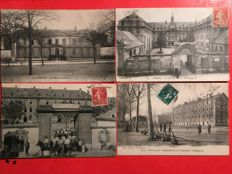France - batch of 66 postcards on militaria: barracks.