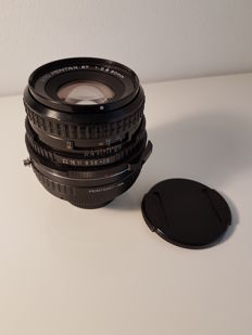 SMC Pentax. 67  1:2.8  90mm met adapter (met nikon adapter)